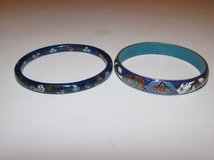 Two Chinese Cloisonne Bracelets in Okinawa, Japan