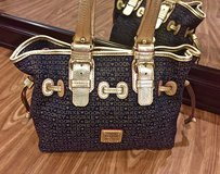 *REDUCED* Authentic DOONEY & BOURKE Navy Blue and Gold Signature Purse - Like NEW!!! in Okinawa, Japan