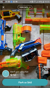 Nerf gun collection in Warner Robins, Georgia