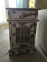 Rustic white nightstand with drawer in Baytown, Texas