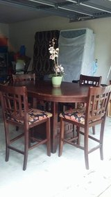 All wood Dinning table bar height with 4 chairs in Sugar Land, Texas