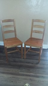 2 Wood Chairs in Sugar Land, Texas