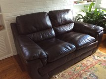 Leather Couch and Love Seat in Fairfax, Virginia