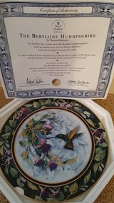 Franklin Mint collector plate, Berylline Hummingbird in Fairfield, California
