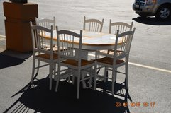 Tile Top Table w/ butterfly leaf and 6 chairs. in Fort Lewis, Washington