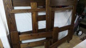 DARK WOOD OAK BUNK BED/TWIN BED HEADBOARD (FRAME ONLY) in Yorkville, Illinois