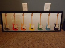 Colorful Guitars Poster and Frame in Camp Lejeune, North Carolina