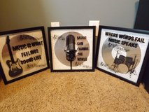 3 Music Theme Mirror Framed Pictures in Camp Lejeune, North Carolina