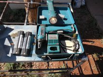 MAKITA DRILL AND LIGHT SET, IN HEAVY METAL CASE, WITH CHARGER AND ONE NEW BATTERY in Alamogordo, New Mexico