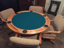 Poker table and 4 chairs in Brookfield, Wisconsin