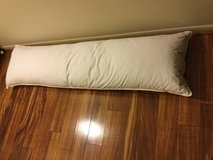 2 White Goose Feathered Down BODY PILLOWS 20W x 72L in Schofield Barracks, Hawaii