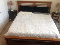 King bed frame (mattress not included) in Baytown, Texas