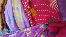 Vintage SARI Saree FABRICS 60's to 70's Each + or - 15' LONG in Beaufort, South Carolina