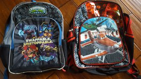2 backpacks for boys - standard size (Planes and Skylanders). in Orland Park, Illinois