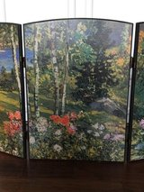 Fireplace Screen with Nature Painting in Conroe, Texas
