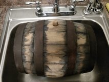 5 gallon whiskey barrel, used at opelika distillery in Montgomery, Alabama
