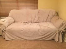 Leather Couch w/Slip Cover in Shreveport, Louisiana