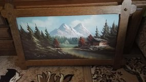 Wooden framed real painting picture. in Ramstein, Germany