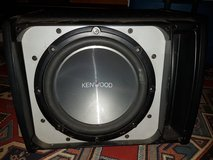 """Kenwood 10"""" subwoofer w/ amp in box in Ramstein, Germany"""