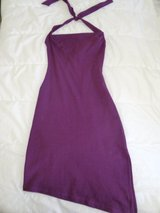 Purple neckholder dress in Ramstein, Germany