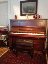 Beautiful German (Console) Upright Piano.  p 1 of 2 in Grafenwoehr, GE