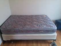 Full sized bed, box spring and frames with wheels in Lawton, Oklahoma
