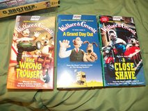 3 Wallace and Gromit VHS Tapes in Houston, Texas