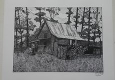 """""""Old Barn"""" Limited Edition Art Print in Gainesville, Georgia"""