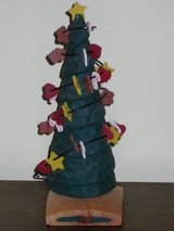 "9"" wood xmas tree in Aurora, Illinois"