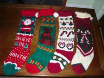 "24"" knit Xmas stockings in St. Charles, Illinois"