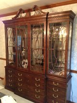 Henrdon Rittenhouse Collection Chippendale Mahogany China Cabinet in Naperville, Illinois