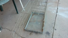 Collapsable metal cage in Alamogordo, New Mexico