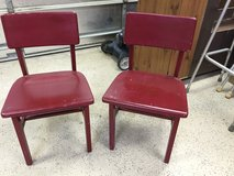 2 vintage wooden chairs in Moody AFB, Georgia