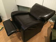 In new condition reclining leather club chair in Joliet, Illinois