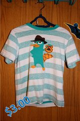 Striped Perry the Platypus T-Shirt in Nellis AFB, Nevada