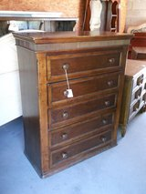 Dark Wood 5-Drawer Dresser (2201-10) in Camp Lejeune, North Carolina
