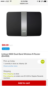 Linksys N900 dual wireless router NEW in Clarksville, Tennessee