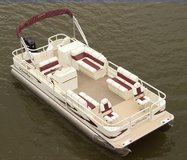 2008 Bentley 240 Fish Pontoon with a 2008 Mercury motor and 2008 Roadrunner trailer in Conroe, Texas