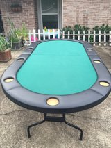 Foldable 8 Player Poker Table in Houston, Texas