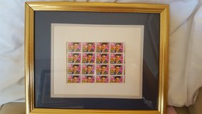 Framed and matted Elvis stamps in Macon, Georgia
