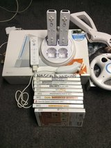 nintendo wii  system with 10 games 3 wireless  controler   battery pack charger in Valdosta, Georgia
