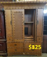 Large Bamboo Style TV Armoire in Wilmington, North Carolina