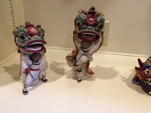 Porcelain Lion Dancers in Houston, Texas