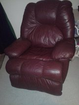 red leather recliner in Lawton, Oklahoma