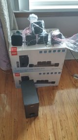 2 sets of RCA Surround sound speakers with remote but no receiver in Lockport, Illinois