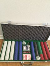 Poker chip set with aluminum case in Fort Bliss, Texas