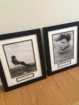2 Framed pictures Elvis and James Dean in Fort Bliss, Texas