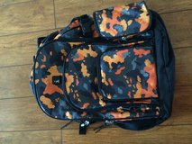 Orange/black heavy duty backpack in Batavia, Illinois