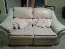 White recliner loveseat in Kingwood, Texas