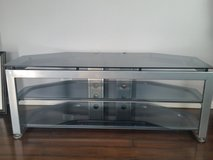 Glass TV stand in Elgin, Illinois